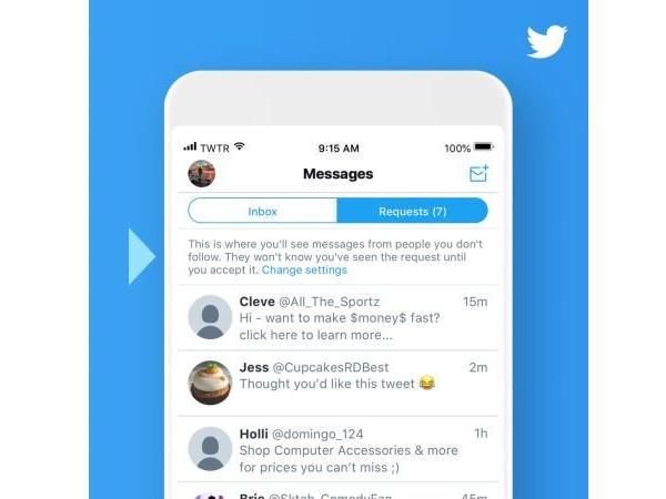 اولویت بندی پیام های دایرکت در توییتر