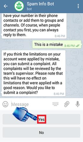 ریپورت در تلگرام
